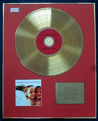 The Smashing Pumpkins - Limited Edition CD 24 Carat Gold Coated LP Disc