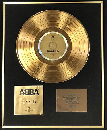 Abba - Exclusive Limited Edition 24 Carat Gold Disc - Gold  (Greatest Hits)