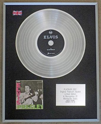 ELVIS PRESLEY - Limited Edition CD Platinum Disc -'ELVIS PRESLEY'