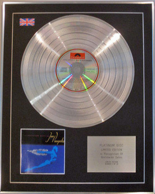 JON and VANGELIS - Limited Edition CD Platinum Disc - THE BEST OF