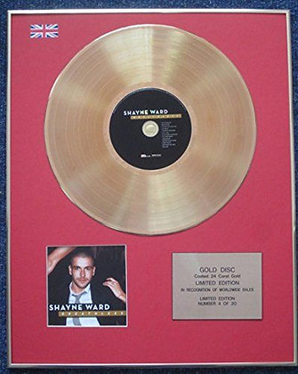 Shayne Ward - Limited Edition CD 24 Carat Gold Coated LP Disc - Breathless