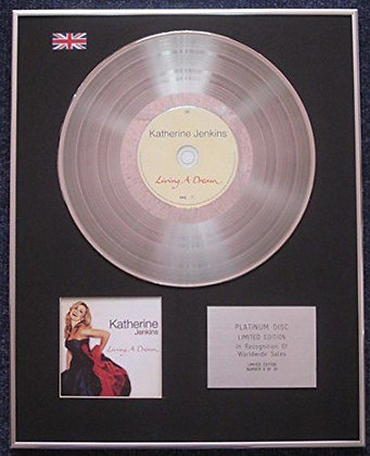 Katherine Jenkins - Limited Edition CD Platinum LP Disc - Living a Dream