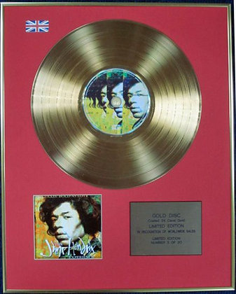 JIMI HENDRIX - Ltd Edition CD 24 Carat Coated Gold Disc - AXIS BOLD AS LOVE