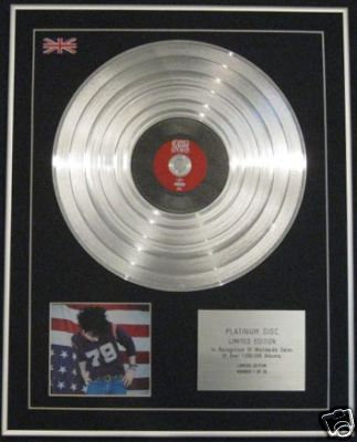 RYAN ADAMS - Ltd Edition CD Platinum Disc - GOLD