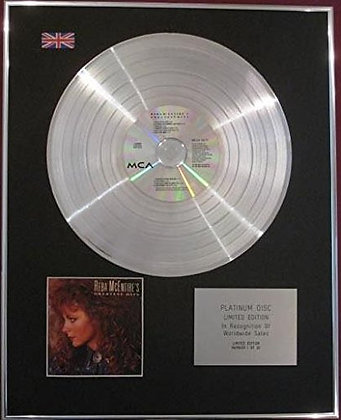REBA MCENTIRE - Limited Edition CD Platinum Disc - GREATEST HITS