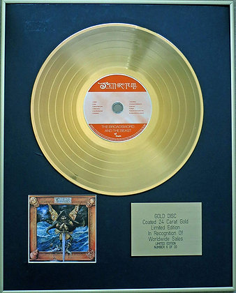 JETHRO TULL - Exclusive Limited Edition 24 Carat Gold Disc - THE BROADSWORD AND