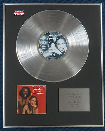 ASHFORD AND SIMPSON - Limited Edition CD Platinum LP Disc - THE VERY BEST OF