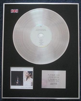 John Parish and PJ Harvey - CD Platinum LP Disc - A Woman a Man Walked By