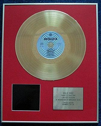 Metallica - CD 24 Carat Gold Coated LP Disc - The Black Album