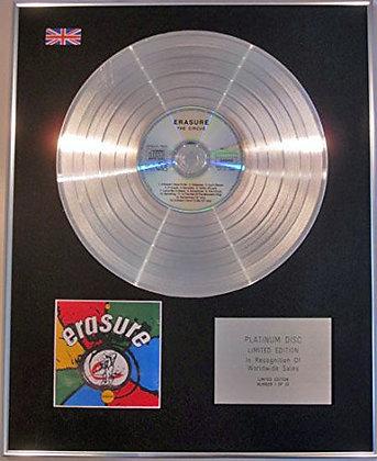 ERASURE - Limited Edition - CD Platinum Disc - CIRCUS