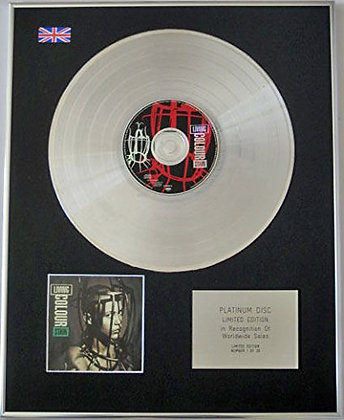 LIVING COLOUR - Limited Edition CD Platinum Disc - STAIN