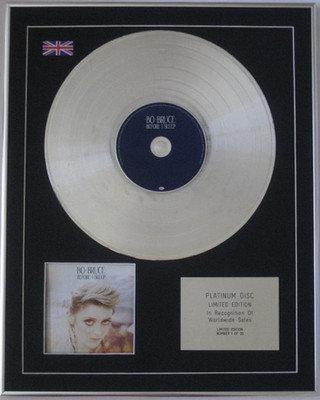 BO BRUCE - Limited Edition CD Platinum Disc - BEFORE I SLEEP