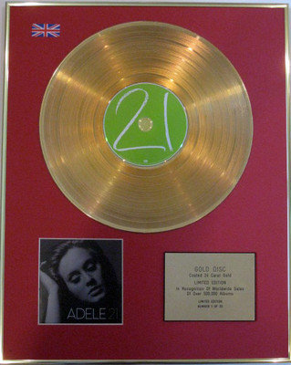 ADELE - Limited Edition 24 Carat CD Gold Disc - 21