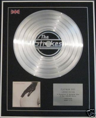 THE STROKES - Ltd Edtn CD Platinum Disc - IS THIS IT
