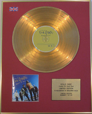 DEL AMITRI - Limited Edition 24 Carat CD Gold Disc - HATFUL OF RAIN (Best of)