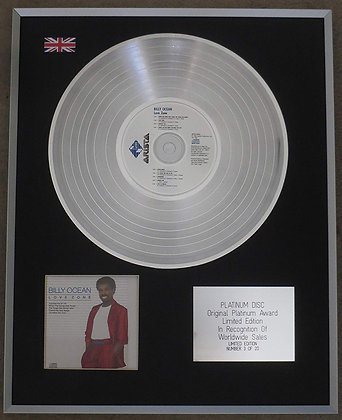 BILLY OCEAN - Limited Edition CD Platinum LP Disc - LOVE ZONE