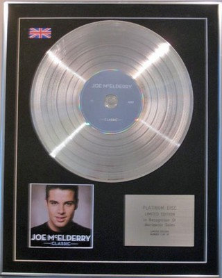 JOE McELDERRY -  Limited Edition CD  Platinum Disc  -  CLASSIC