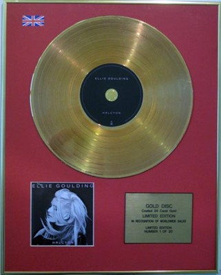 ELLIE GOULDING - Ltd Edition CD Gold Disc - HALCYON
