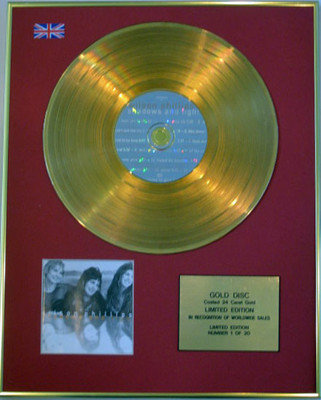 WILSON PHILLIPS  - Limited Edition 24 Carat CD Gold Disc - SHADOWS AND LIGHT