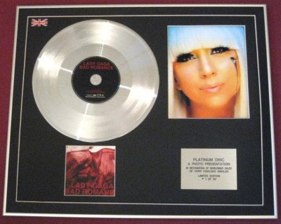 LADY GAGA -CD single Platinum Disc Photo- BAD ROMANCE