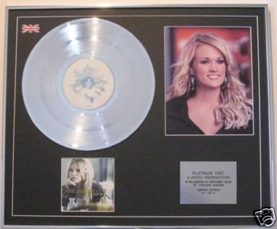 CARRIE UNDERWOOD Ltd Edt Platinum Disc+Photo-PLAY ON