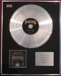 PANTERA -  CD Platinum Disc - OFFICIAL LIVE:101 PROOF