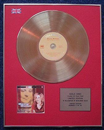 Bette Midler - Limited Edition CD 24 Carat Gold Coated LP Disc - Peggy Lee…