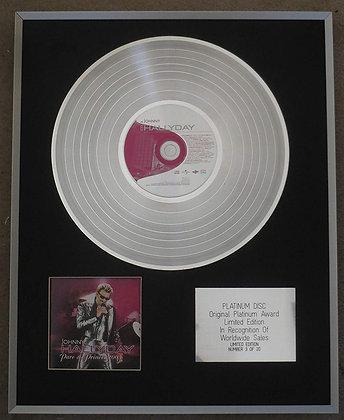 Johnny Hallyday - Limited Edition CD Platinum LP Disc - Parc Des Princes 2003