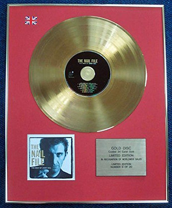 Jimmy Nail - Limited Edition CD 24 Carat Gold Coated LP Disc -The Nail File