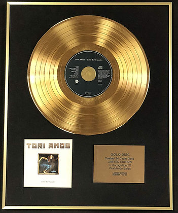 Tori Amos - Exclusive Limited Edition 24 Carat Gold Disc - Little Earthquakes