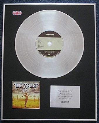 TESTAMENT - Limited Edition CD Platinum LP Disc - PRACTICE WHAT YOU PREACH