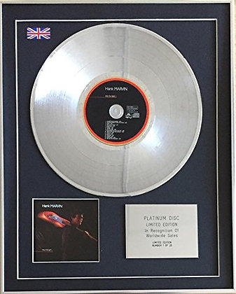 HANK MARVIN (The Shadows) - Limited Edition CD Platinum Disc - INTO THE LIGHT
