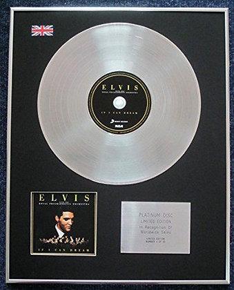 Elvis Presley - CD Platinum LP Disc - If I Can Drea
