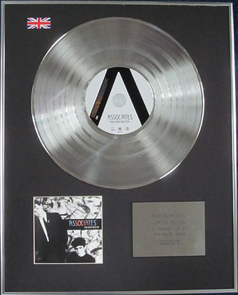 ASSOCIATES - Limited Edition CD Platinum Disc - THE VERY BEST OF