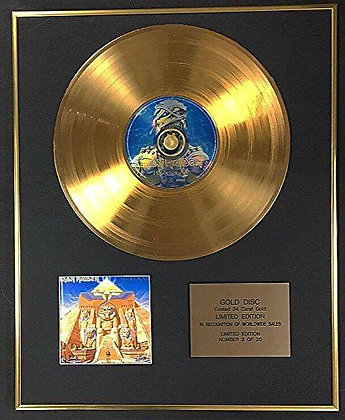 Iron Maiden - Exclusive Limited Edition 24 Carat Gold Disc - Powerslave
