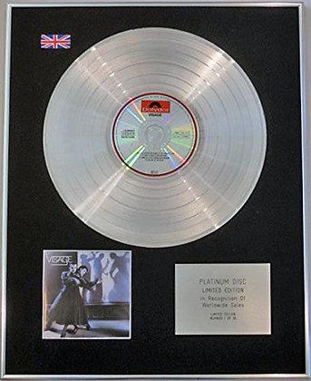 VISAGE - Limited Edition CD Platinum Disc - VISAGE