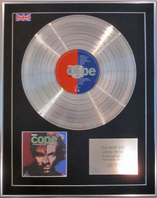 JULIAN COPE - Limited Edition CD Platinum Disc - THE FOLLOWERS OF SAINT JULIAN