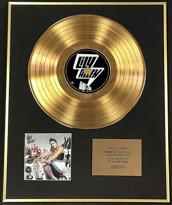 Lily Allen - Exclusive Limited Edition 24 Carat Gold Disc - Alright, Still