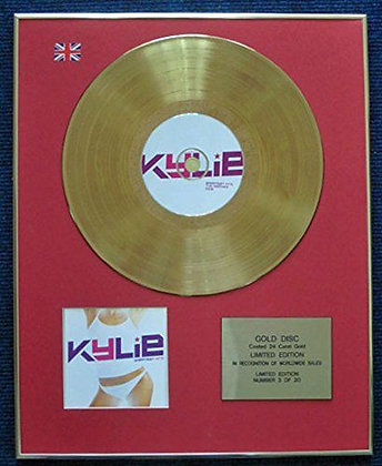 Kylie Minogue - Limited Edition CD 24 Carat Gold Coated LP Disc - Kylie
