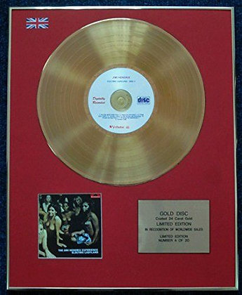 Jimmy Hendrix - CD 24 Carat Gold Coated LP Disc - Electric Ladyland
