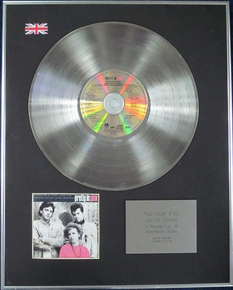 PRETTY IN PINK - Limited Edition CD Platinum Disc - ORIGINAL SOUNDTRACK