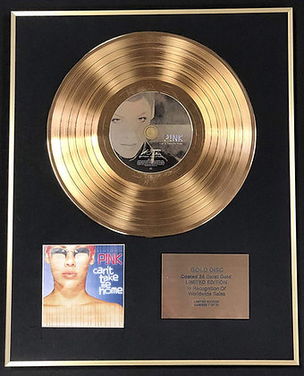 Pink - Exclusive Limited Edition 24 Carat Gold Disc - Can't Take Me Home