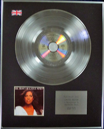 CARLY SIMON - Limited Edition CD Platinum Disc - THE BEST OF