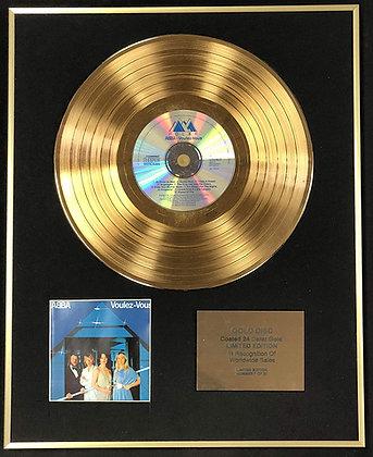 Abba - Exclusive Limited Edition 24 Carat Gold Disc - Voulez Vous