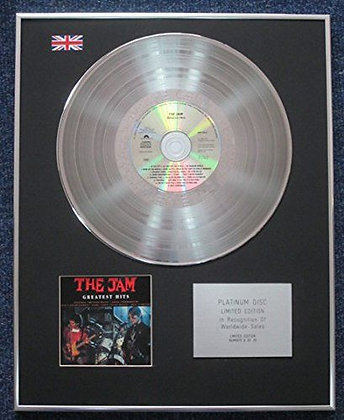 The Jam - Limited Edition CD Platinum LP Disc - Greatest Hits