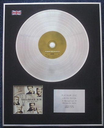 DIAMOND RIO - Limited Edition CD Platinum LP Disc - ONE MORE DAY
