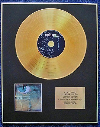 Nickelback - Limited Edition CD 24 Carat Gold Coated LP Disc -..Silver Side Up
