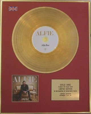 ALFIE BOE  - Limited Edition CD 24 Carat Gold Disc - ALFIE