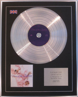 VOICE OF THE BEEHIVE  - Limited Edition CD Platinum Disc - HONEY LINGERS