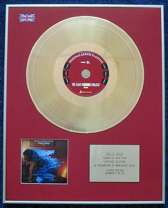 ALAN PARSONS PROJECT - Limited Edition CD 24 Carat Gold Coated LP Disc - PYRAMID